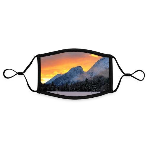 Sonnenuntergang Winterlandschaft Österreich Tirol - Kontrastmaske, einstellbar (Small)