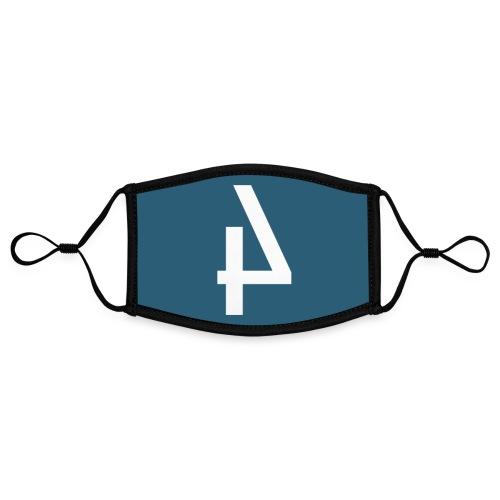 Het Spoor 4 logo klein - Contrasterend mondkapje, instelbaar (Small)