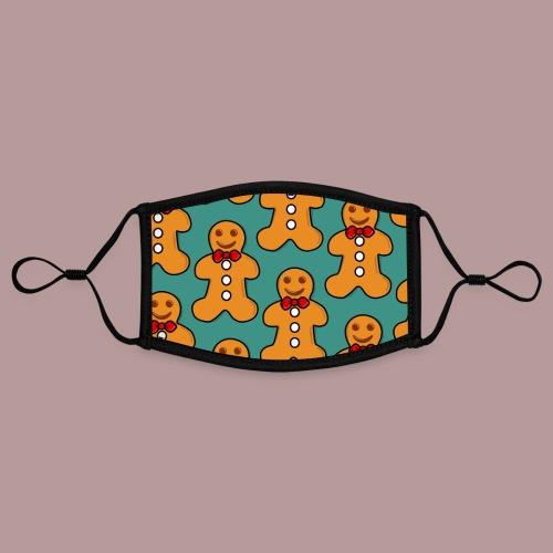 Masque motif petit biscuit de noël - Masque contrasté, réglable (taille S)