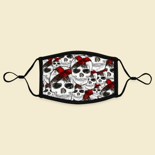 Radball | Skull Maske - Kontrastmaske, einstellbar (Small)