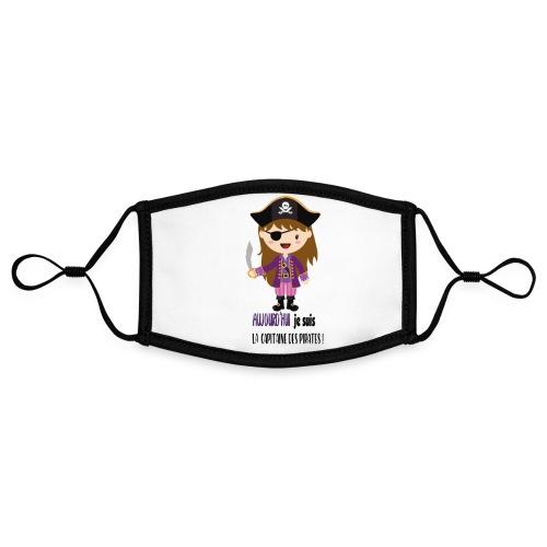 Pirate FILLE - Masque contrasté, réglable (taille S)
