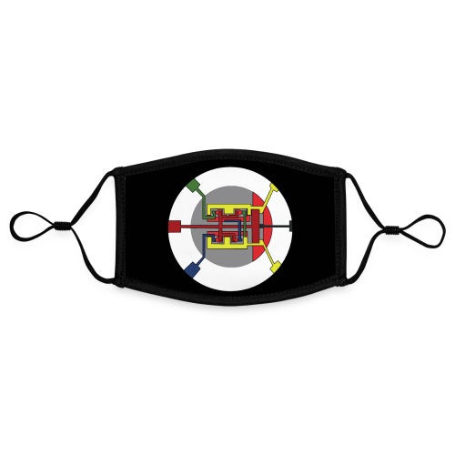 Jackjohannes Hemp 'Oscillator' mondmasker - Contrasterend mondkapje, instelbaar (Small)