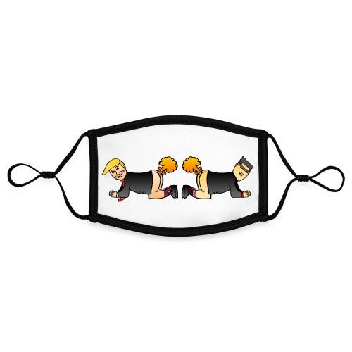 Trump Kim Logo - Masque contrasté, réglable (taille S)