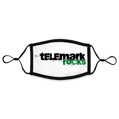 telemark rocks grün - Kontrastmaske, einstellbar (Small)