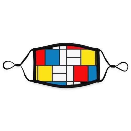 #4BSTRAKT By #ZEROMASKS≠ - Mascherina in contrasto cromatico, regolabile (piccola)