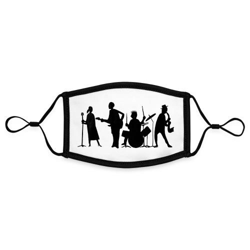 jazz - Kontrastivärinen maski, säädettävä (small)