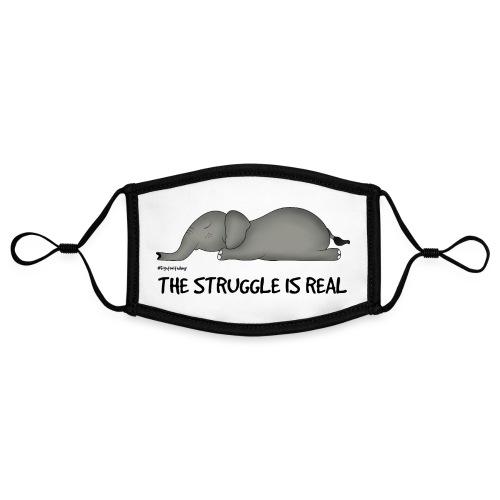 Amy's 'Struggle' design (black txt) - Contrast mask, adjustable (small)
