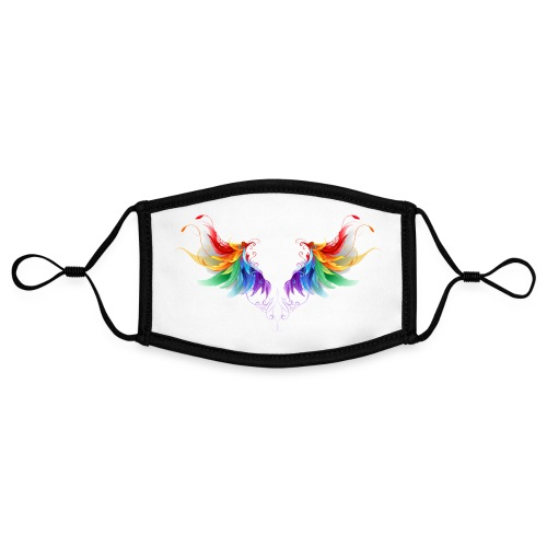 Ailes d'Archanges aux belles couleurs vives - Masque contrasté, réglable (taille S)