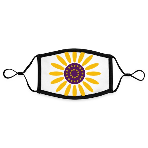 sunflower - Kontrastivärinen maski, säädettävä (small)