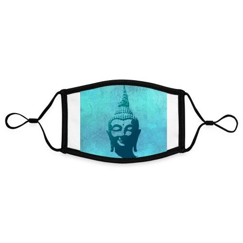 Boeddha hoofd - Contrasterend mondkapje, instelbaar (Small)
