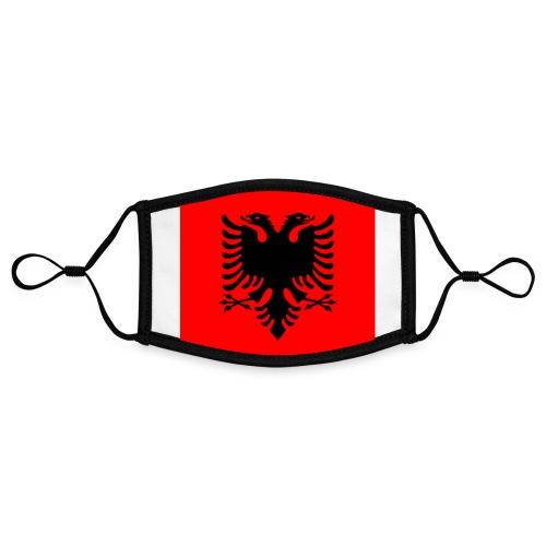 #ALBANIA By #ZEROMASKS≠ - Mascherina in contrasto cromatico, regolabile (piccola)