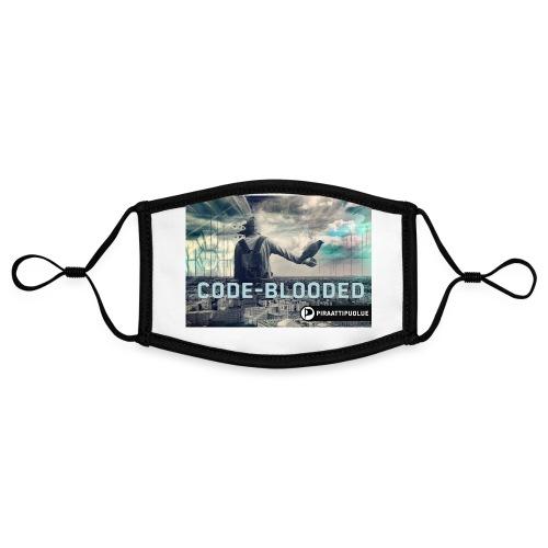 Code-blooded - Kontrastivärinen maski, säädettävä (small)