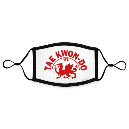 Welsh dragon ITF FanMASK reusable face mask - Contrast mask, adjustable (small)