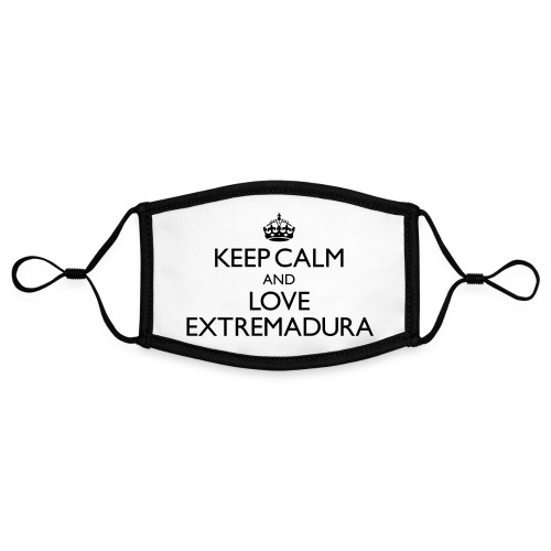 keepcalm and love Extremadura - Mascarilla contraste, ajustable (pequeña)