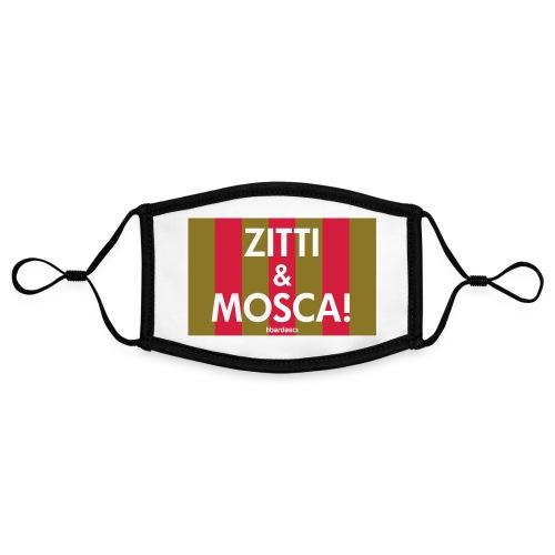zitti_e_mosca - Mascherina in contrasto cromatico, regolabile (piccola)