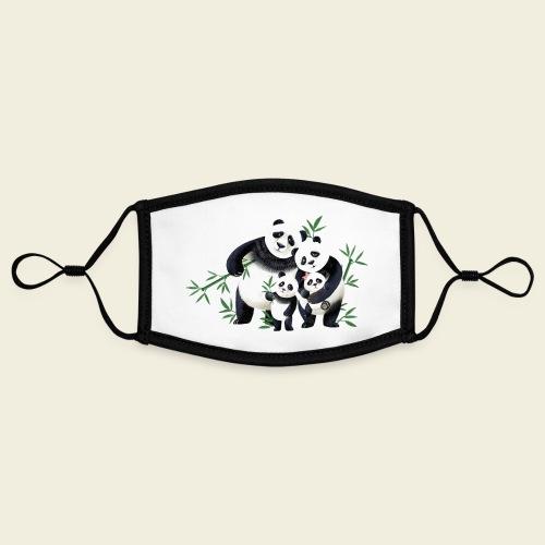 Pandafamilie zwei Kinder - Kontrastmaske, einstellbar (Small)