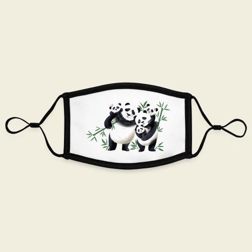 Pandafamilie drei Kinder - Kontrastmaske, einstellbar (Small)