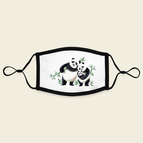 Pandafamilie Baby - Kontrastmaske, einstellbar (Small)