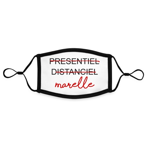 DISTANCIEL MARELLE BIG - Masque contrasté, réglable (taille S)