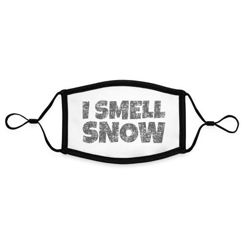 I Smell Snow (Dunkelgrau) Schnee, Wintersport, Ski - Kontrastmaske, einstellbar (Small)