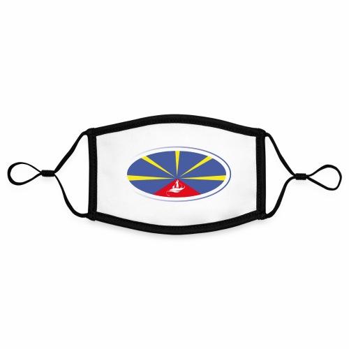 Paddle Reunion Flag - Masque contrasté, réglable (taille S)