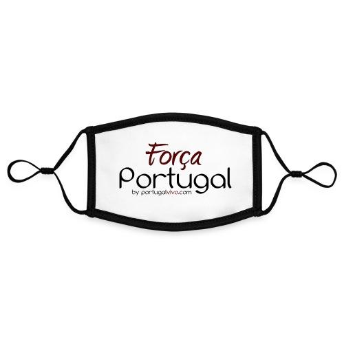Força Portugal - Masque contrasté, réglable (taille S)