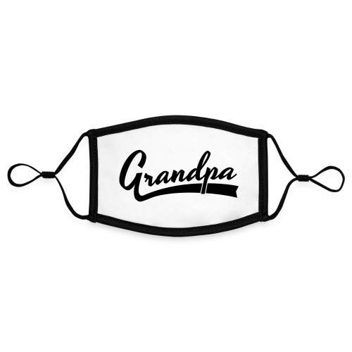 Grandpa text - Kontrastivärinen maski, säädettävä (small)