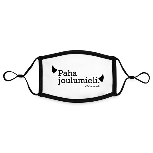 Paha joulumieli - Kontrastivärinen maski, säädettävä (small)