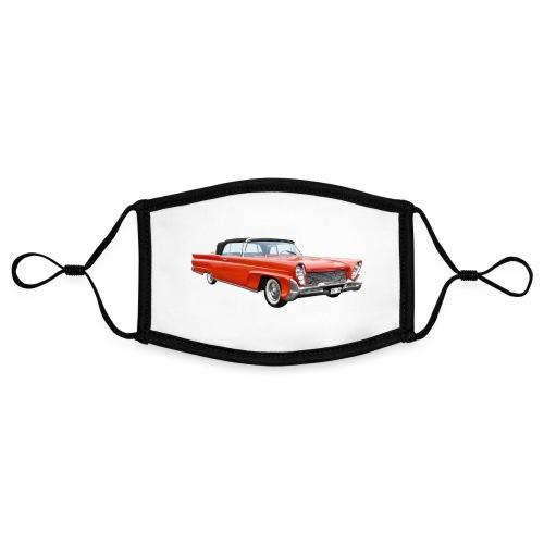 Red Classic Car - Contrasterend mondkapje, instelbaar (Small)