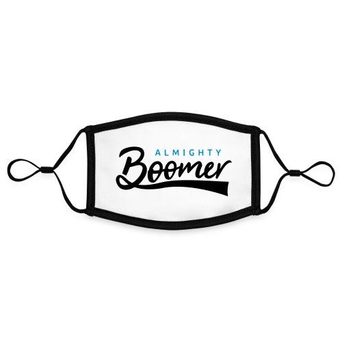 Almighty Boomer - Kontrastivärinen maski, säädettävä (small)
