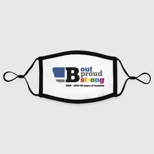 B out B proud B strong - Contrast mask, adjustable (small)