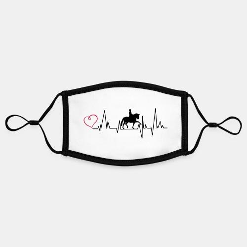 Heartbeat Dressurreiterin klassisch Herz - Kontrastmaske, einstellbar (Small)