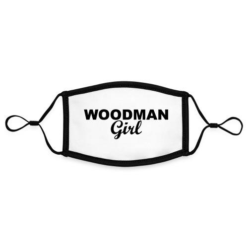 WOODMAN Girl, black - Kontrastmaske, einstellbar (Small)