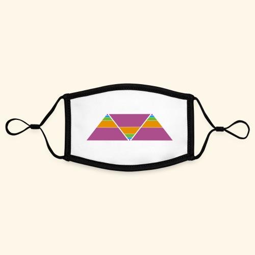 triangulos - Mascarilla contraste, ajustable (pequeña)