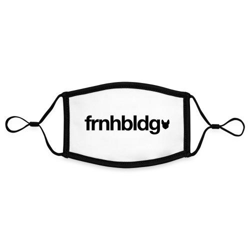 Französische Bulldogge Schriftzug mit Silhouette - Kontrastmaske, einstellbar (Small)