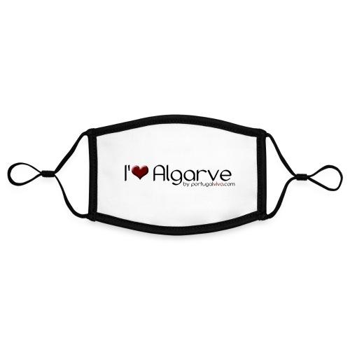 I Love Algarve - Masque contrasté, réglable (taille S)