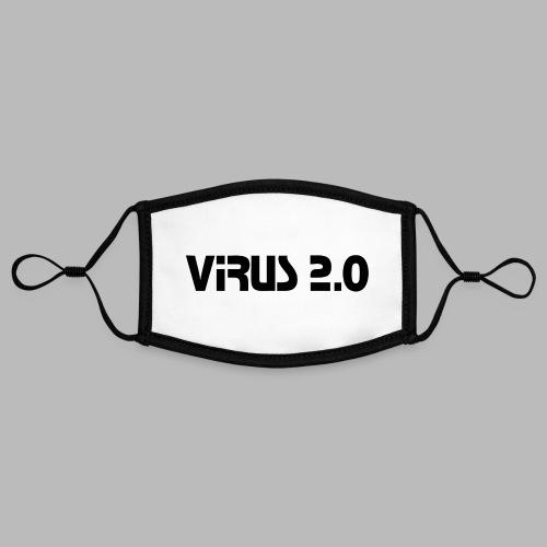 virus2 0 - Masque contrasté, réglable (taille S)