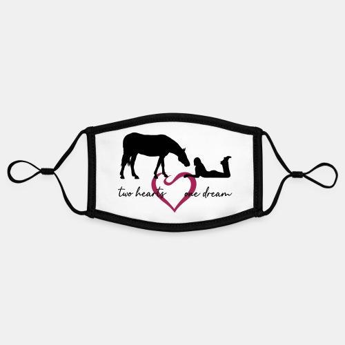 two hearts one dream liegendes Mädchen Pferd - Kontrastmaske, einstellbar (Small)