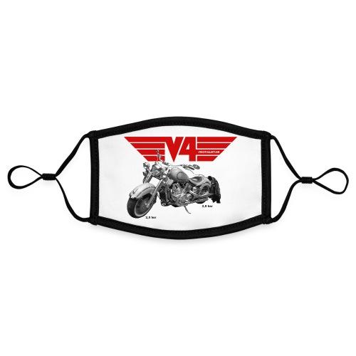 V4 Motorcycles red Wings - Kontrastmaske, einstellbar (Small)