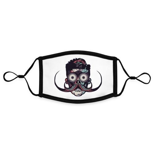 hipster tete de mort crane barbu skull moustache b - Masque contrasté, réglable (taille S)