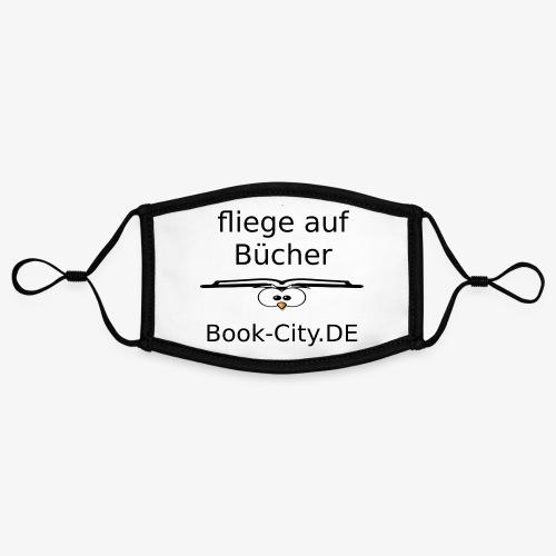 ich fliege auf Bücher - Kontrastmaske, einstellbar (Small)