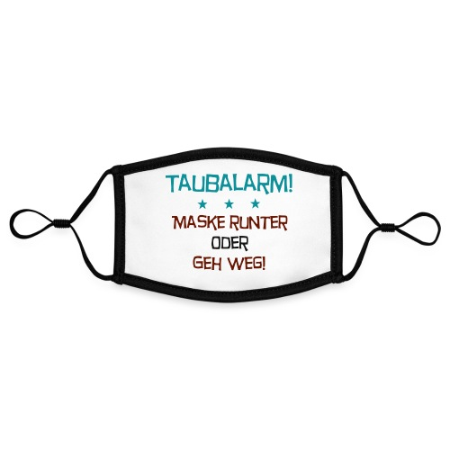 Taubalarm - Kontrastmaske, einstellbar (Small)
