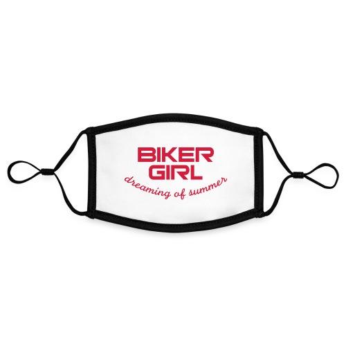 Biker Girl dreaming of summer - Kontrastivärinen maski, säädettävä (small)