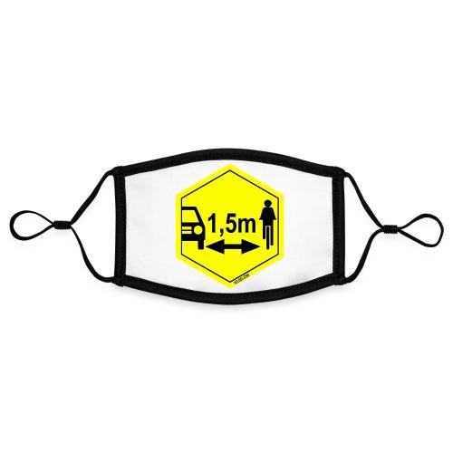 Turvaetäisyys 1,5 m - Kontrastivärinen maski, säädettävä (small)