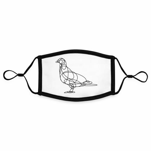Pigeon1 ai - Contrasterend mondkapje, instelbaar (Small)