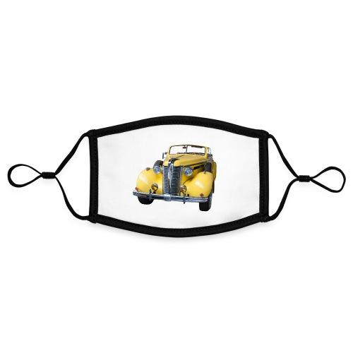 Gele klassieke auto1920 - Contrasterend mondkapje, instelbaar (Small)