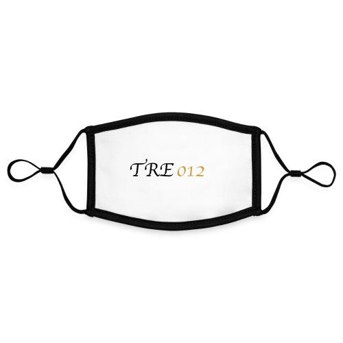 TRE012 - Mascherina in contrasto cromatico, regolabile (piccola)