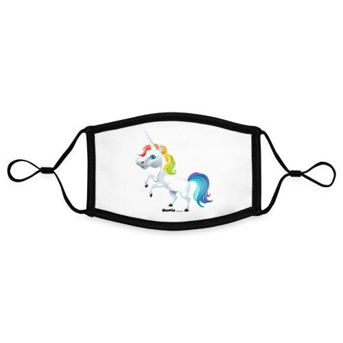 Tęczowy jednorożec - Kontrastowa maska, regulowana (rozmiar S)