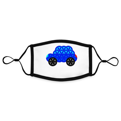 The Car Of Life - M01, Sacred Shapes, Blue/R01. - Contrast mask, adjustable (small)