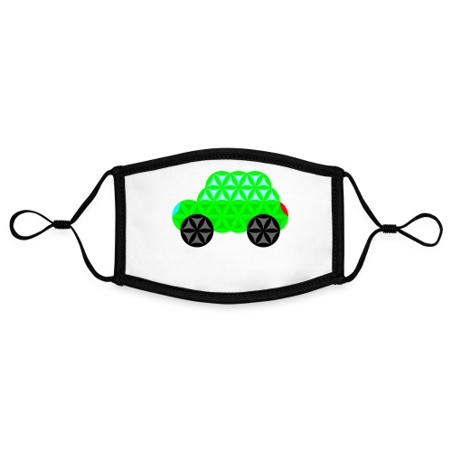 The Car Of Life - M01, Sacred Shapes, Green/R01. - Contrast mask, adjustable (small)